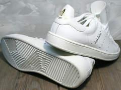Белые кожаные женские кроссовки Stan Smith White-R A14w15wg