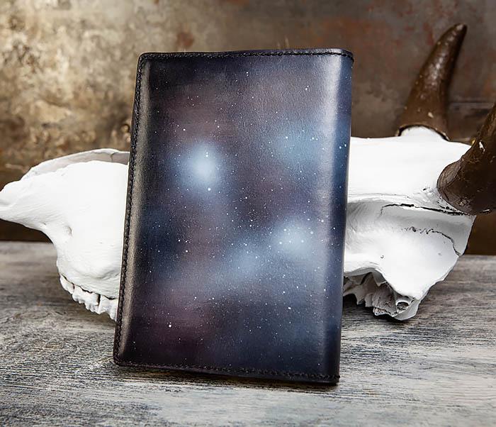BC202 Подарочный кожаный ежедневник «Гагарин» с художественным раскрасом (A5) фото 09