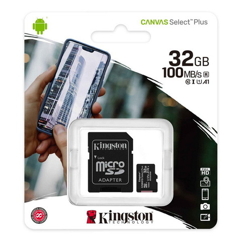 Карта памяти Kingston microSDXC Canvas Select Plus 32GB Class 10 UHS-1 (с адаптером) (SDCS2/32GB)