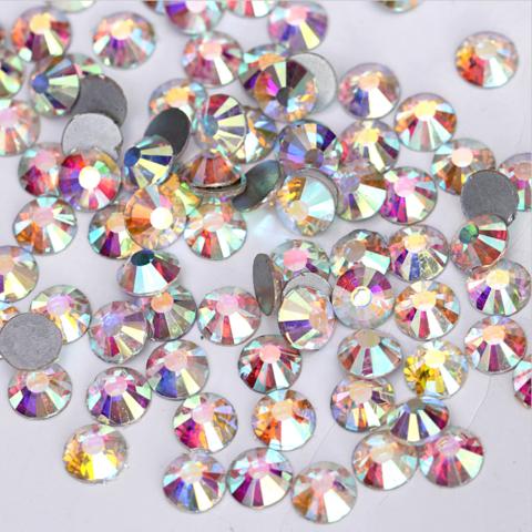 Стразы SS12 AB переливающийся кристалл 100 шт