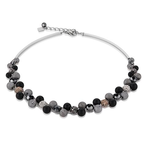 Колье Coeur de Lion 4845/10-1523 цвет серый, чёрный, серебряный