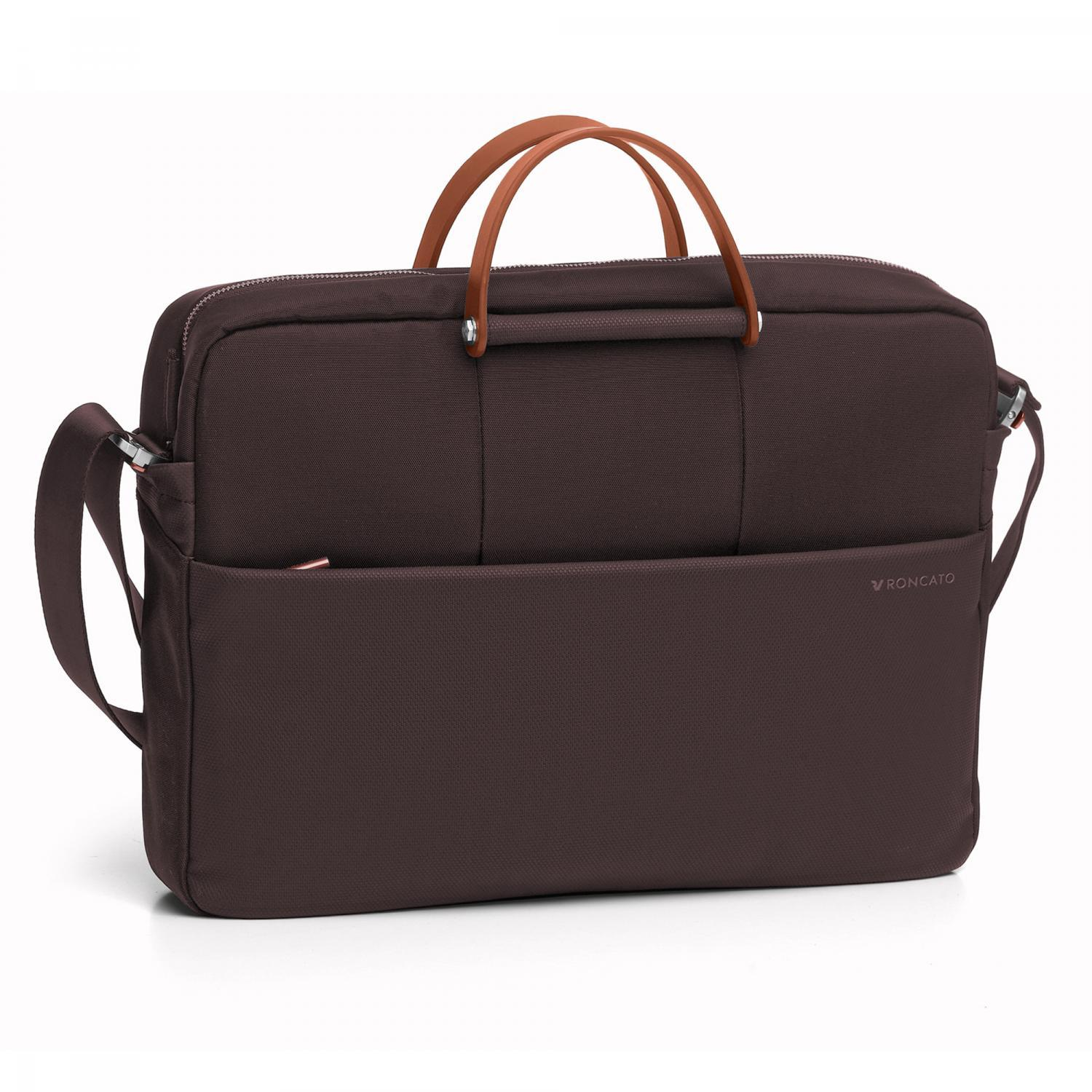 Сумка Roncato Wireless LAPTOP BAG 1 comp. Dark brown