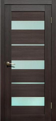 Дверь La Stella 200, стекло матовое, цвет дуб мокко, остекленная