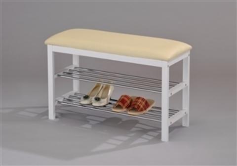 Скамейка с подставкой для обуви SR 0628-WT