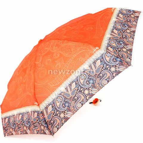 Модный женский зонт красный с абстрактными узорами, Арт Рейн