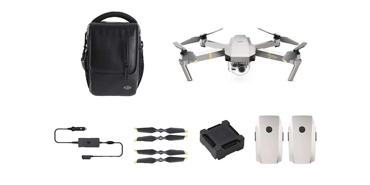 Квадрокоптер DJI Mavic Pro Platinum Fly more Combo комплект