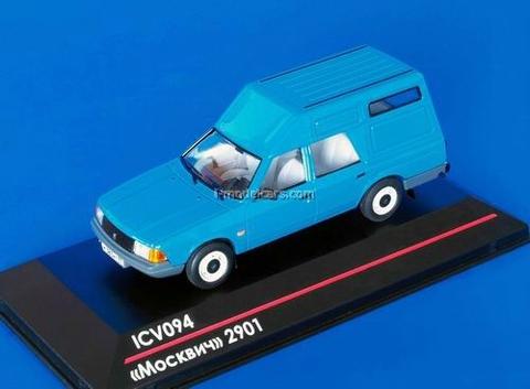 Moskvich-2901 blue 1:43 ICV094