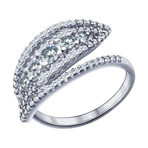 94011435- Кольцо из серебра с фианитами