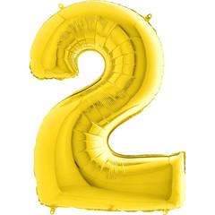 Цифра 2 (Золотая)