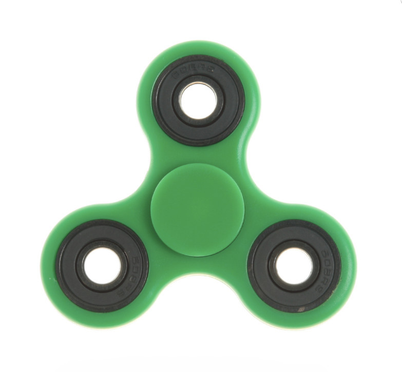 В наличии! Игрушка-антистресс спиннер FIDGET SPINNER зелёный