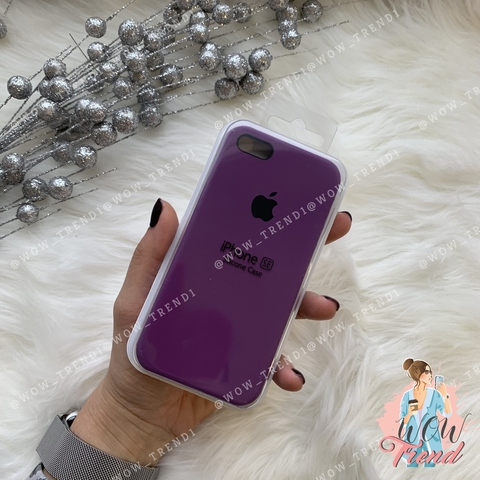 Чехол iPhone 5/5s/SE Silicone Case /purple/ баклажан 1:1