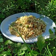 Макаронные изделия с мясом и овощами 'Леовит', 60г готовое блюдо
