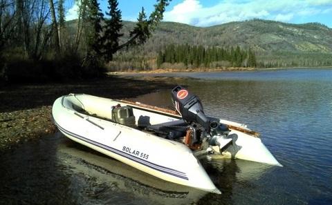 Надувная ПВХ-лодка Солар Максима - 555 МК (светло-серый)