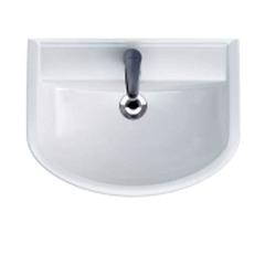 Шкафчик Prime под раковину Arteco 60, белый / Раковина Cersanit Arteco 60