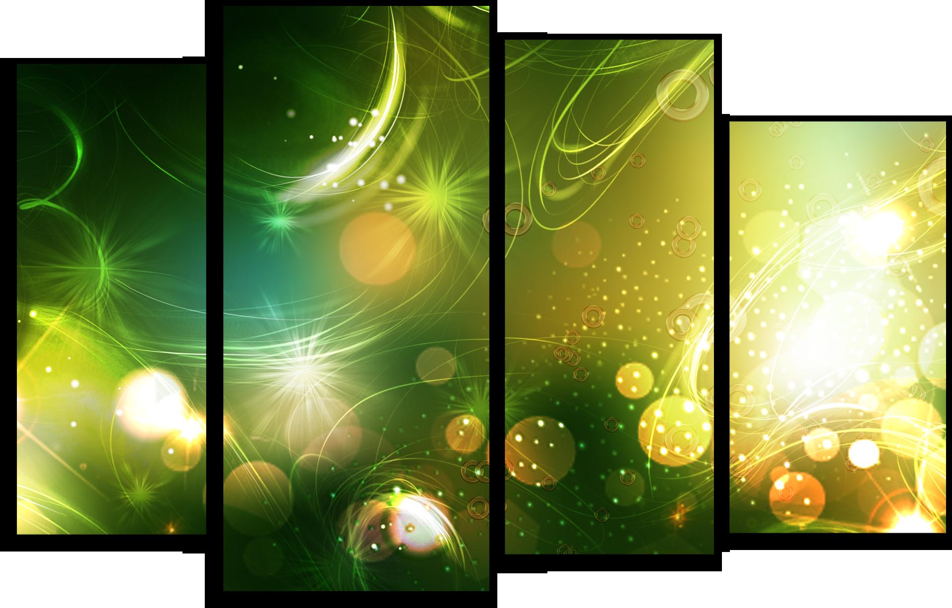 """Абстракция Модульная картина """"Зеленая абстракция"""" М511.png"""