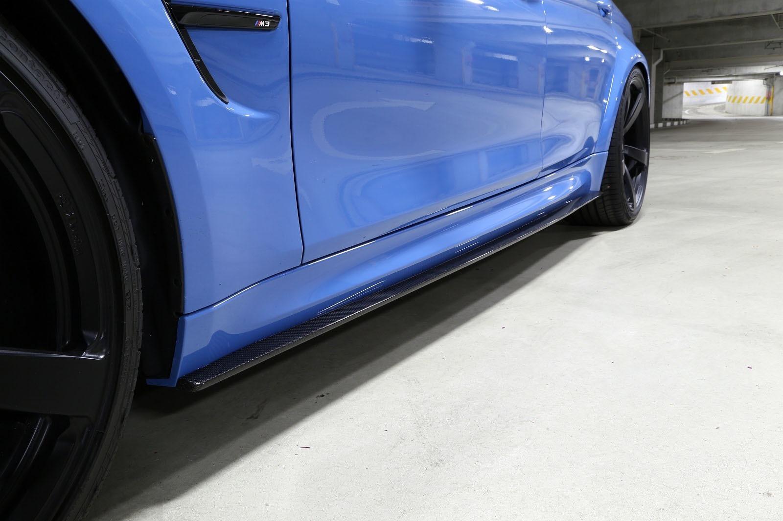 Карбоновый накладки под пороги для BMW M3 F80