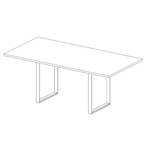 Стол прямоугольный 2400 мм (ORBIS-CARRE)