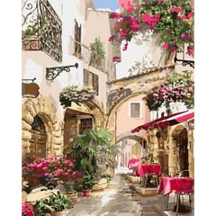 Романтика Европы- раскраски по номерам