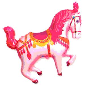 Фольгированный шар Лошадь цирковая розовая 90 X 98 см