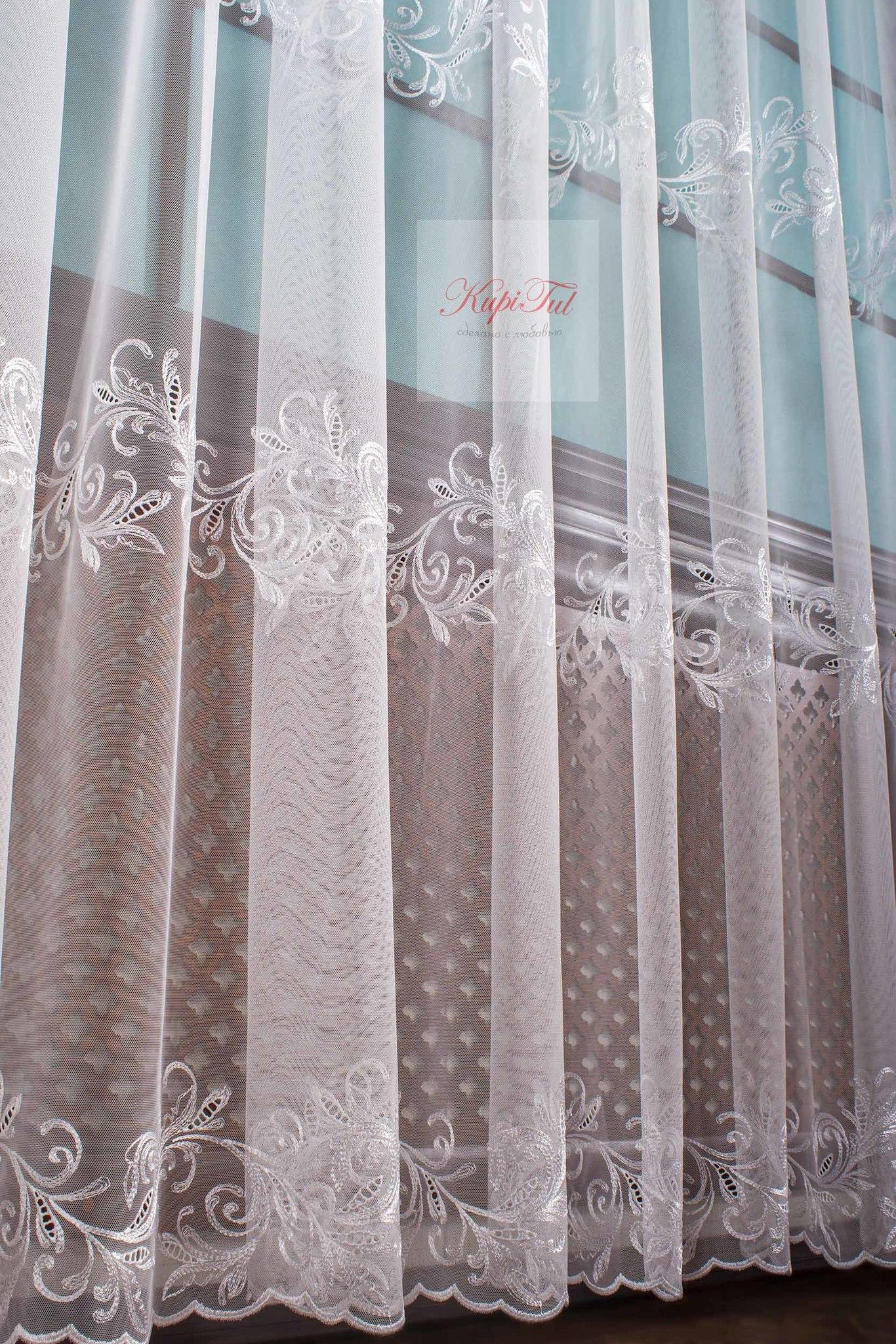 Тюль Belle французская сетка (белый)