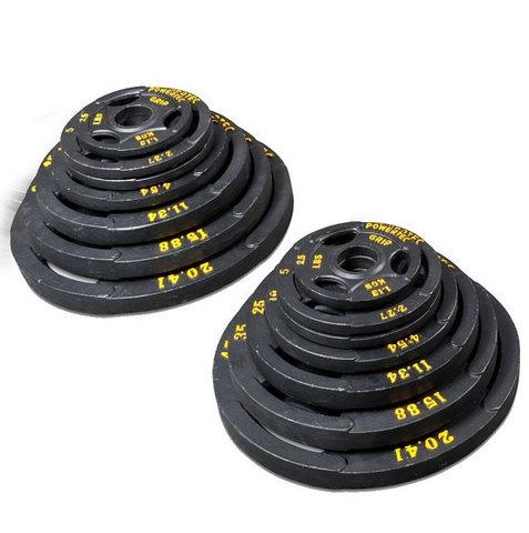Набор олимпийских дисков для тренажеров powertec 255 LBS (116 кг)