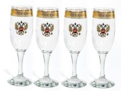 Подарочный набор из 4 фужеров для шампанского
