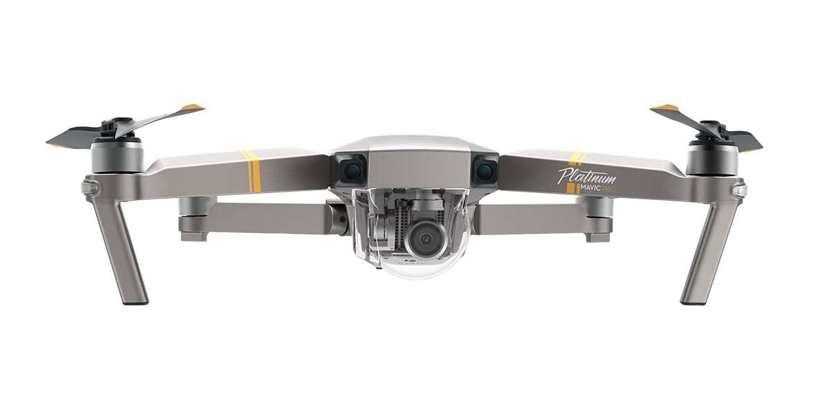 Квадрокоптер DJI Mavic Pro Platinum Fly more Combo вид спереди