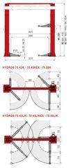 Подъёмник двухстоечный электрогидравлический BUTLER Hidros 70 42k. Италия.