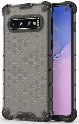 Чехол с темным корпусом на Samsung Galaxy S10, Caseport, серия Honey