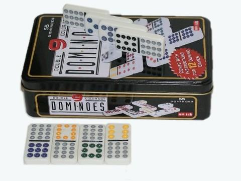 Домино. Комплект с комбинациями цифр от 0 до 9 включает 55 элементов домино. Из них 10 дублей и 45 дробей. :(S-29):