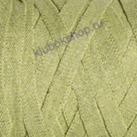 Ленточная пряжа YarnArt Ribbon цвет 755 зеленый