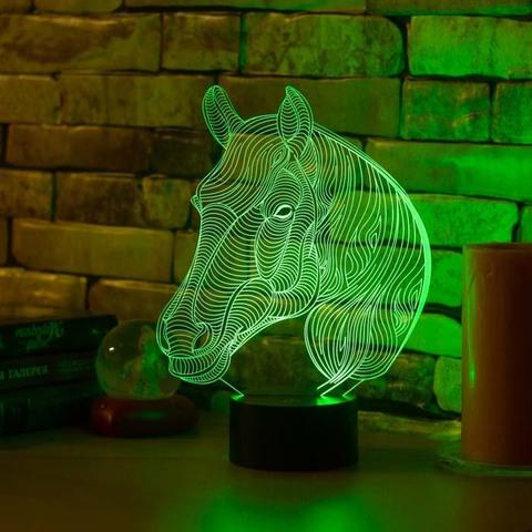 Светильник Лошадь с гривой