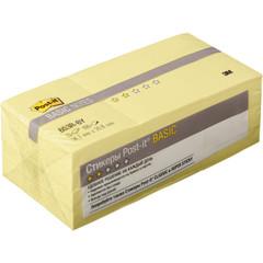 Стикеры Post-it Basic 653R-BY, канареечный желт 38х51мм 12блх100 л.