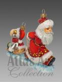 Дед Мороз из зимней сказки вёз на праздник к нам салазки