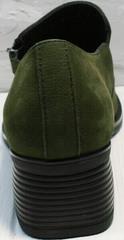Женские закрытые туфли на каблуке 5 см осень весна Miss Rozella 503-08 Khaki.