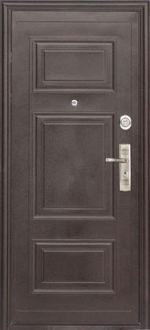 Дверь входная L-3 замок RNB стальная, венге, 2 замка, фабрика Арсенал