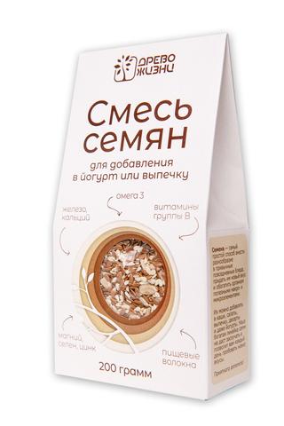 Семена смесь для добав.в йогурт и выпечку, 200 гр. (Источник жизни)