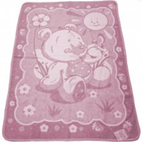 Vladi. Одеяло байковое Медвежонок 100% хлопок, 100х140 см