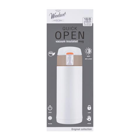 Термокружка Woodsurf Quick Open (0,35 литра), белая