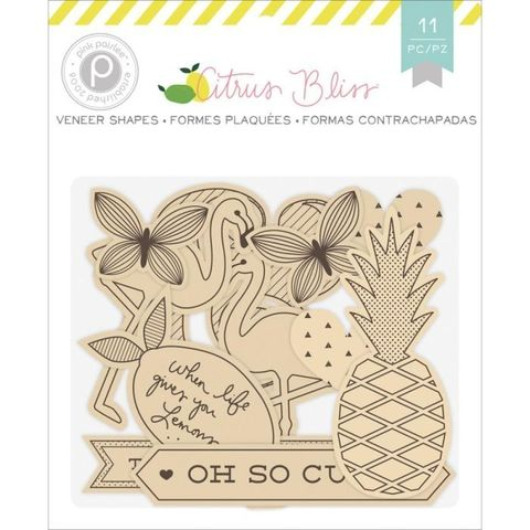 Деревянный чипборд из коллекции Citrus Bliss