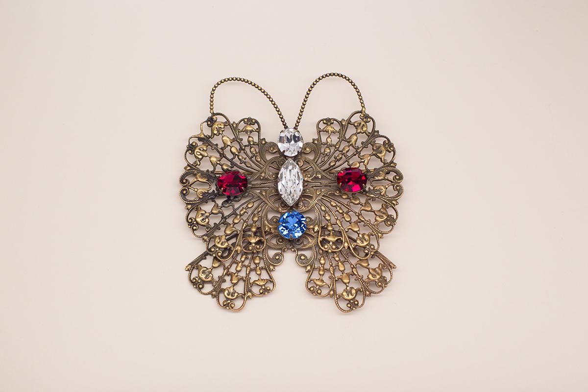 Великолепная брошь Королевская бабочка от Joseff of Hollywood