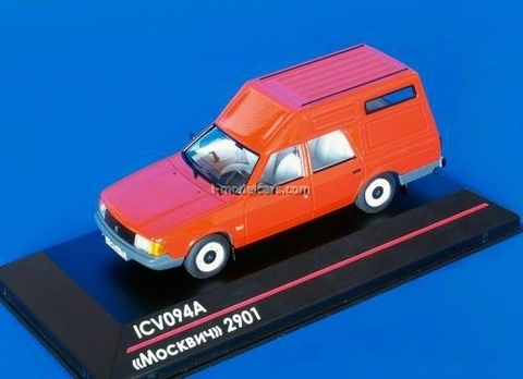 Moskvich-2901 red 1:43 ICV094A
