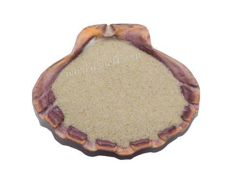 Песок натуральный бежевый 1 кг.