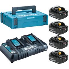 Набор аккумуляторный Makita 198312-4 (DC18RD + 4х BL1850B)