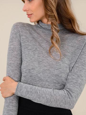 Женский свитер серый меланж цвета из 100% шерсти - фото 3