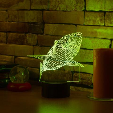3D ночник Акула