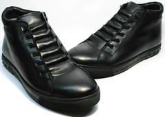 Стильные мужские ботинки на меху Ridge 6051 X-16Black