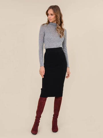 Женский свитер серый меланж цвета из 100% шерсти - фото 5