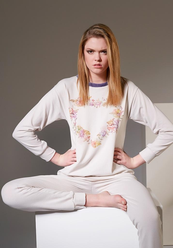 Женская пижама с сердцем Rebecca & Bros