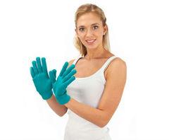 Увлажняющие СПА-перчатки (перчатки с силиконовой подкладкой)